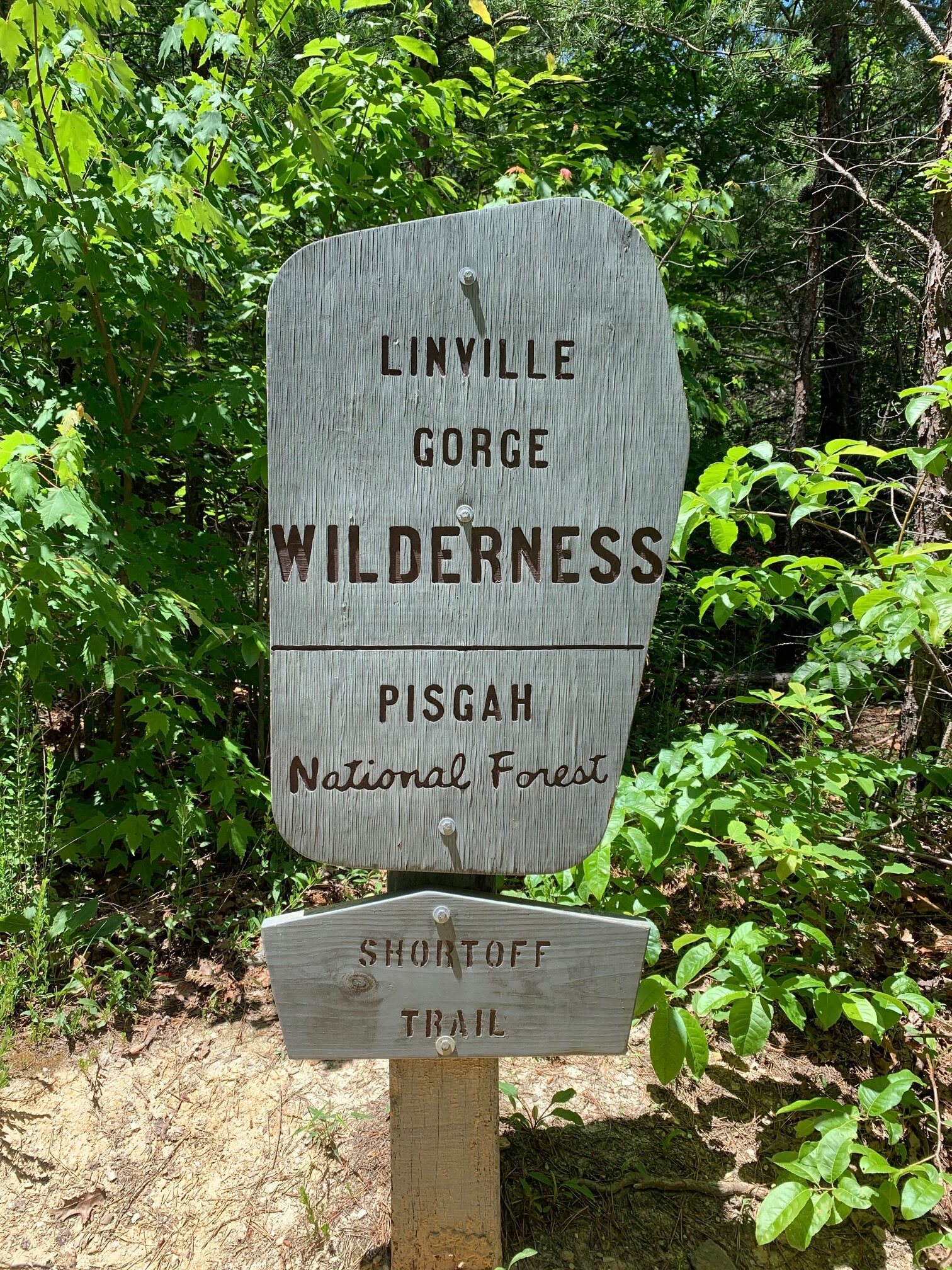 Sign for Linville Gorge Wilderness Trail